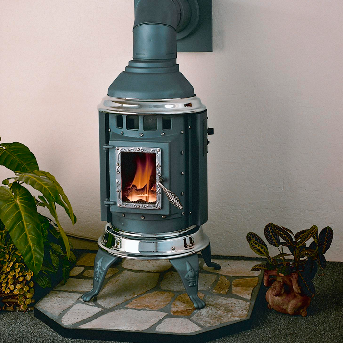 The Gnome direct vent stove offers both natural gas (NG) and liquid propane (LP) models.
